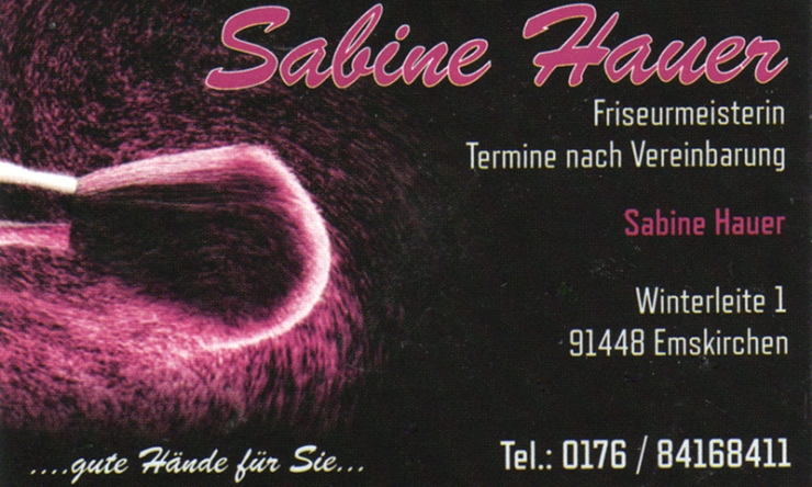 Friseurmeisterin Sabine Hauer